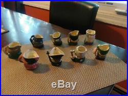 1950's 60's Royal Doulton & Co Limited 2 1/2 Character Jugs Lot of (9) Sweet