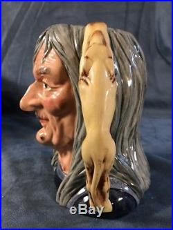 1988 Royal Doulton Large Character Toby Jug The Pendle Witch D 6826 Limited Ed