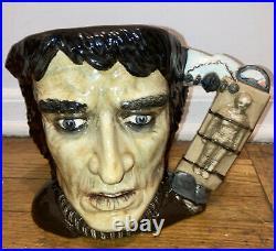 1996 Large Rare 2500 Royal Doulton Jug Mug Character Frankenstein Monster D7052