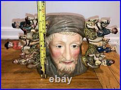 1996 Large Rare 519/1500 Royal Doulton Jug Mug Character D7029 Geoffrey Chaucer