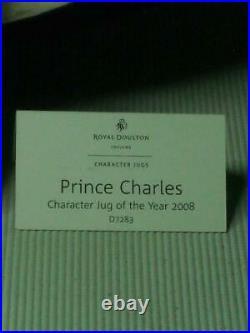 2008 Royal Doulton PRINCE CHARLES Character Jug of the Year D7283 COA + Label