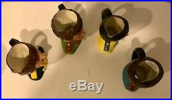 4 Royal Doulton Beatles Character Jugs D6724, D6725, D6726, & D6727 Excellent