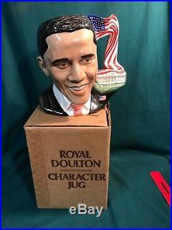 7 President Barack Obama Royal Doulton Character Jug with Box and Literature