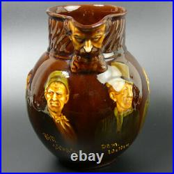 A Royal Doulton Dickens Characters Kingsware Pottery Maskhead Whisky Water Jug