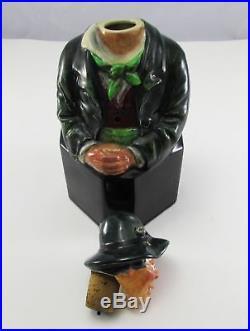 Antique Royal Doulton Character Figural Irishman Decanter Jug for Asprey & Co
