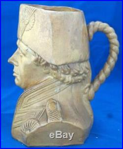 Antique Royal Doulton Stoneware Character Jug Admiral Lord Horatio Nelson