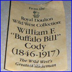 BUFFALO BILL Royal Doulton Character Jug NEW NEVER SOLD D6735 Medium 5.5 tall
