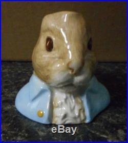 Beatrix Potter Peter Rabbit Character Jugs Set of 6 Beswick (Royal Doulton)