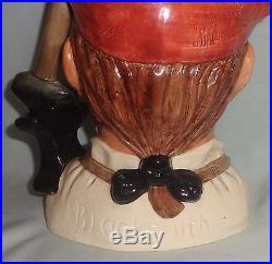 Blacksmith Character Toby Jug Mug Williamsburg Royal Doulton D6571 Large 1962