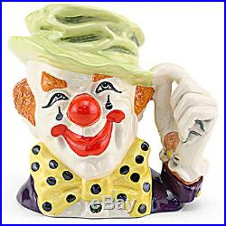 CLOWN Royal Doulton CHARACTER Jug NEW NEVER SOLD D6834 6.5 tall made in England