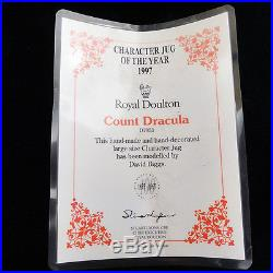 COUNT DRACULA Royal Doulton CHARACTER Jug NEW NEVER SOLD D7053 7 tall LRG