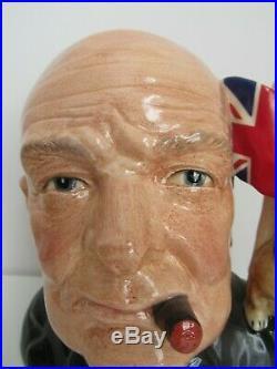 Coa Winston Churchill Bulldog Toby Character Jug Of Year 1992 D6907 Mint