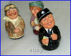 Collection Lot Of 7 Royal Doulton Doultonville Character Jugs