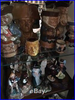 Collection of Royal Doulton Character Jugs and Toby Mugs