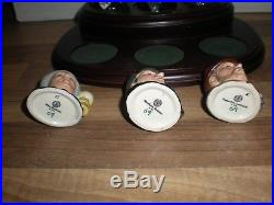 Complete set of Royal Doulton Sherlock Holmes Tiny Character Jugs on stand
