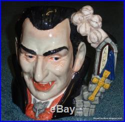 Count Dracula Character Toby Jug D7053 Royal Doulton Halloween Gift RARE