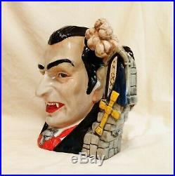 Count Dracula Character Toby Jug D7053 Royal Doulton-Signed by Michael Doulton