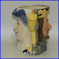 D6836 Royal Doulton large double sided character jug King Arthur and Guinevere