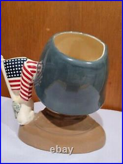 D7026 General Patton Character Jug Large 7 Collectors Condition