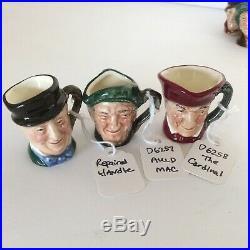 DUTCH AUCTION(z527) 12 Tiny Royal Doulton Character Jugs (D6142-47 & 6255-60)