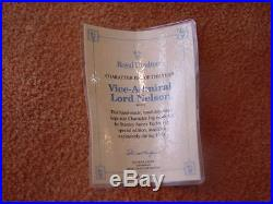 Doulton Character Jug 1st Quality Pristine Cond. Vice-Admiral Lord Nelson D6932