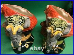Doulton Higbee's trial Colorway Elephant Trainer Character Jug Toby Museum Sale