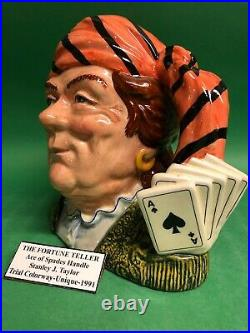 Doulton Trial Handle Fortune Teller Ace Of Spades Character Jug Toby