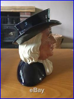 Excellent D6738 Mr Quaker Rare Royal Doulton Character Toby Jug Ltd Edition