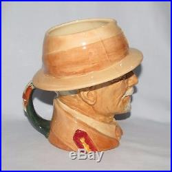 Exceptionally scarce Royal Doulton large character jug Smuts D6198