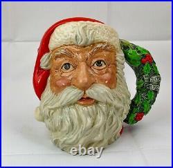Festive Royal Doulton'Santa Claus' Character Jug D6794 Made in England