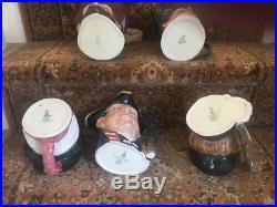 Five Large Royal Doulton Character Jugs