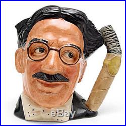 GROUCHO MARKS Royal Doulton CHARACTER Jug NEW NEVER SOLD D6710 7 tall LARGE