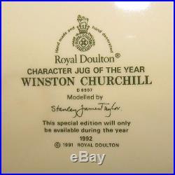Iconic Royal Doulton Large size character jug D6907 Winston Churchill Bulldog #1