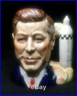 JOHN F KENNEDY/ SPACE SHIP Large Toby Character Jug/Mug Pascoe/Royal Doulton