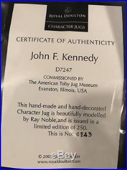 John F Kennedy character jug D7247 (243 Of 250) Royal Doulton