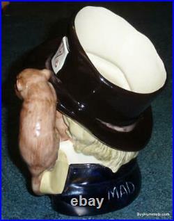 LARGE Mad Hatter Royal Doulton Character Toby Jug D6598 Alice In Wonderland