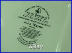 LARGE Royal Doulton JOHN WAYNE Character Jug of the Year 2007 D7269 COA