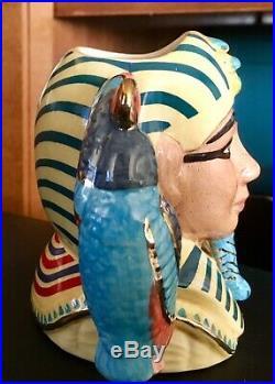 LTD Ed. 1998/1999 Royal Doulton Tutankhamen / Ankhesenamun Small Character Jugs
