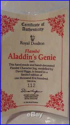 Large Royal Doulton Character Jug Aladdin's Genie D6971 7 1/2 1994 Ltd 1,500