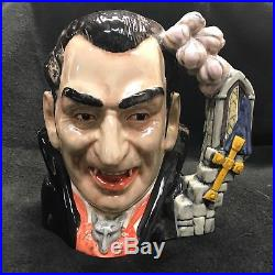 Large Royal Doulton Character Jug Count Dracula 1997 With Certificate