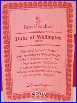 Large Royal Doulton Character Jug Duke Of Wellington D6848 Special Edition With