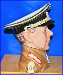 Large Royal Doulton Character Jug Erwin Rommel D7290 Rare Item Limited