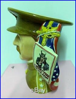 Large Royal Doulton Character Jug General Pershing D7230 Limited Very Rare
