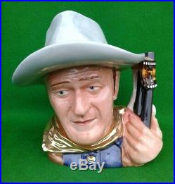 Large Royal Doulton Character Jug John Wayne For Approval D7269