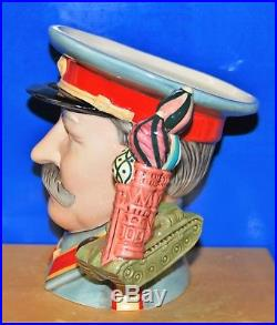 Large Royal Doulton Character Jug Joseph Stalin D7284 With Certificate
