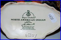 Large Royal Doulton Character Jug North American Indian D6786 Rare Colourway