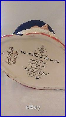Large Royal Doulton Character Jug Yeoman Of The Guard D6884 7 1990 Ltd 250