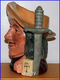 Large Royal Doulton Character Toby Jug Aramis D6829 Limited Edition