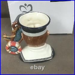 Large Royal Doulton Character Toby Mug Sailor Jug with Box D 7263