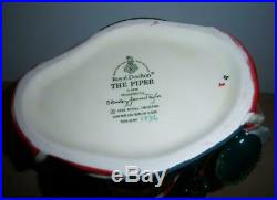 Large Royal Doulton The Piper D6918 Character Jug Limited Edition Issued In 1992